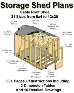 Shed Plans 12×32