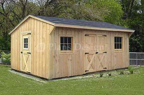 Shed plans 12 32 how a good storage shed plans can help for Saltbox barn