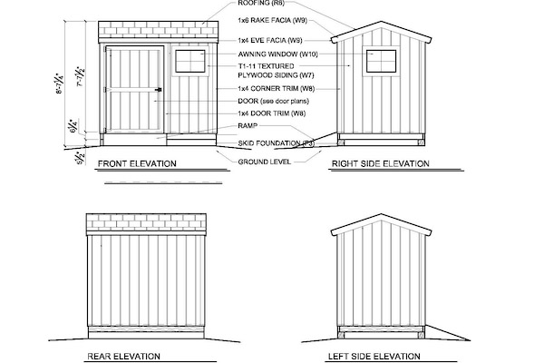 shed plans 6 x 8