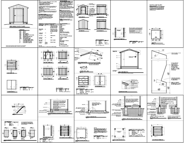 8 X 10 Gable Shed Plans