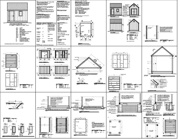 Shed Plans 8 X 10 : Shed Plan – 12 Feet By 24 Feet