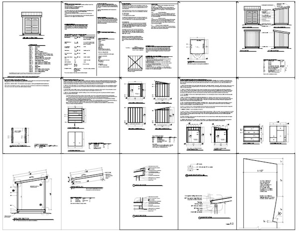 Shed plans 8 x 8 wooden project tools shed plans kits for Pdf shed plans