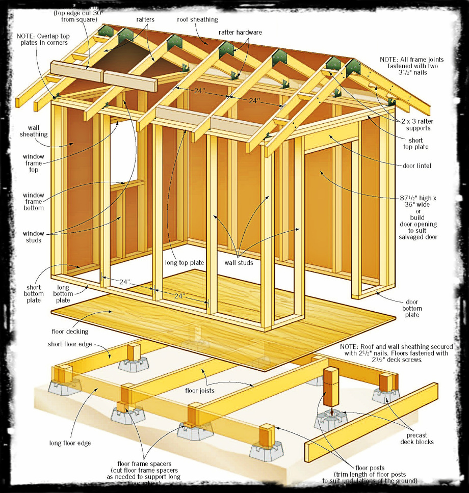 Dalama 8 X 8 Barn Style Shed Plans