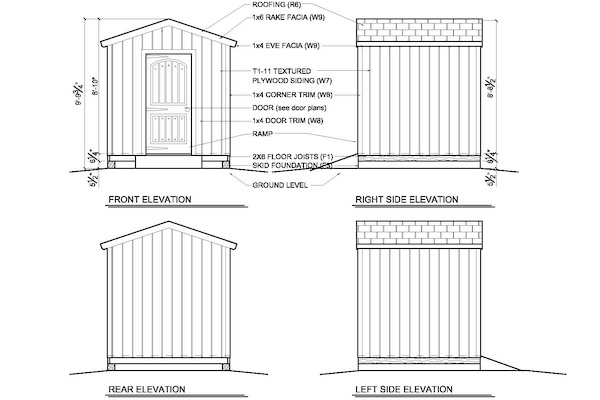 8 x 8 timber strew plans