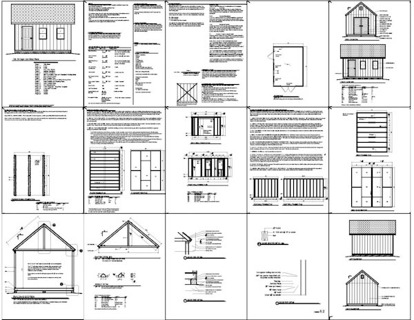 Simple arbor plans wood shed materials list