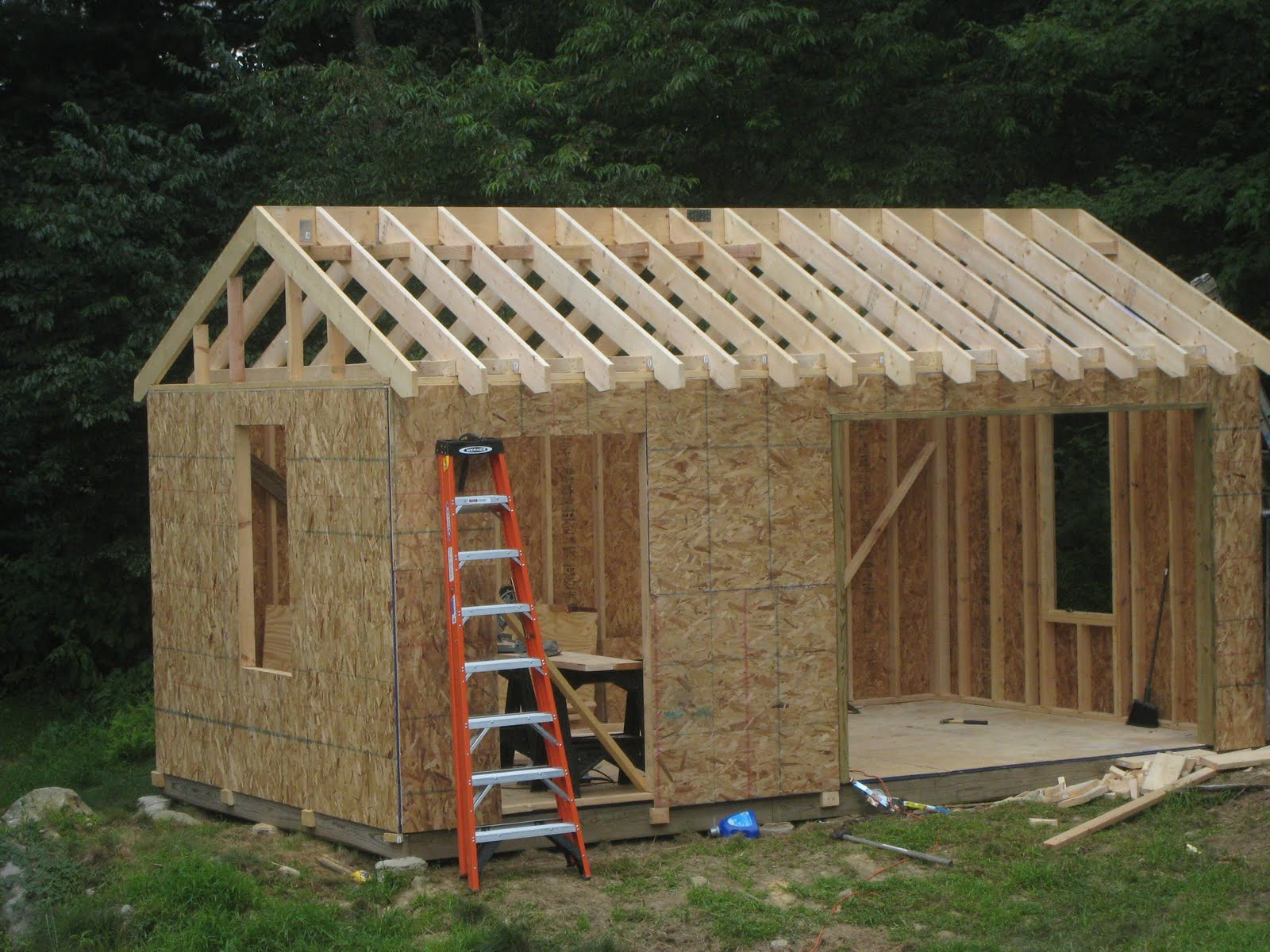 Storage building blueprints your simple guide to free for Build a house kits