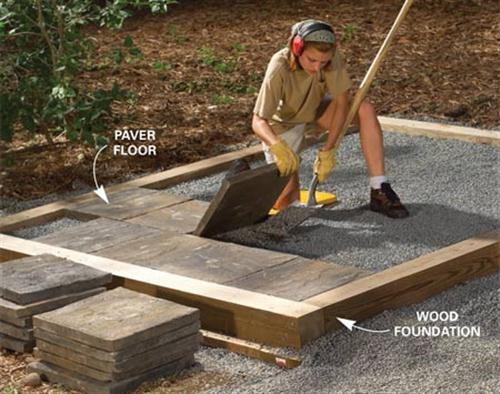 Storage Building Foundation : What You Can Get From Patio ...