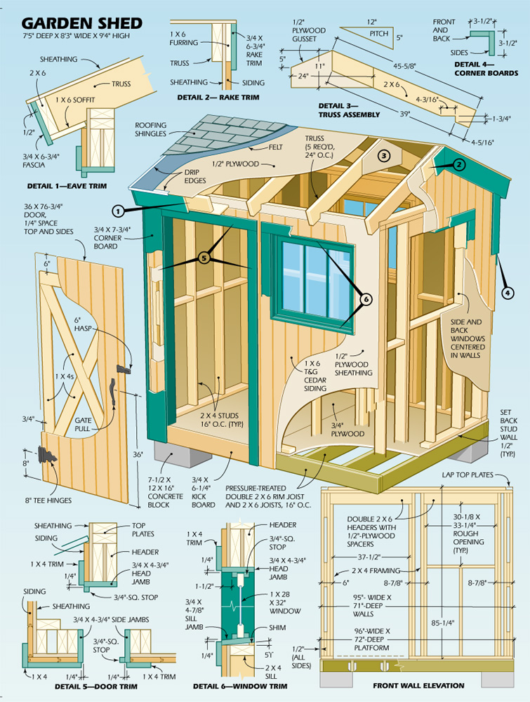 Shed Plans 6 X 8 Free : Garden Shed Plans Explained | Shed ...